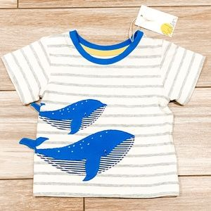 Mini Boden Baby Whale T-Shirt NWT! Size 0-3M